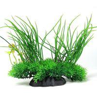 artificial grass pets - 1pc Artificial Plant Grass Plastic x18CM Green Underbrush Aquarium Decorations Aquatic Pet Supplies Retail
