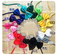 Wholesale Hot Sales Dog Neck Tie Dog Bow Tie Cat Tie Supplies Pet Headdress adjustable bow tie