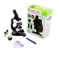Wholesale Children Kids Microscope Kit with Reflecting Mirror Lamp Chemical Laboratory Apparatus Student Children Science Educational Toy