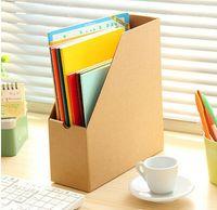 Wholesale desk office organizer diy storage revisteiro tray documents desk storage file box desktop organizer