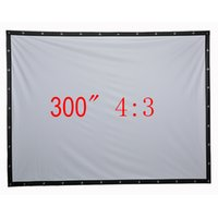 Wholesale Newest quot inch projection screen Portable Front soft matte white fabric screen without frame can be fold