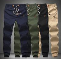 Wholesale Plus Size Drawstring Men Pants Fit Cotton jogger pants Mid Rise Leisure Men s Trousers Mens Pants XXL XL