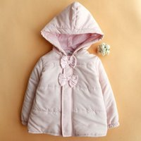 bebe winter coats - Infant Fashion Autumn Winter European Style Baby Cotton Jacket Brand Pink Baby Girl Coat Newborn Clothing Bebe Clothes