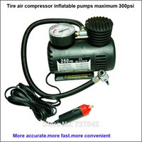 Wholesale Portable V PSI Electric Car Tire Tyre Inflator Pump Auto Car Pump Air Compressor with Pneumatic Nozzles