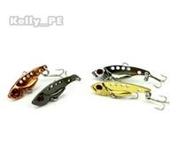 Wholesale Metal Lures VIB Hard Bait Spoon Fishing Blade cm g hooks color Jigs Fishing Tackle