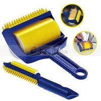 Wholesale New Reusable Perfect Sticky Roller With Built in Rubber Fingers Convenient Cleaning Brushes