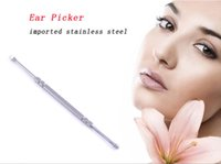 Wholesale New Ear Wax Pickers Stainless Steel Ear Picks Wax Removal Curette Remover Cleaner Ear Care Tool EarPick Facial Beauty Tools
