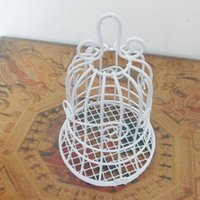 Wholesale Fashion Wedding Favors White Bell Birdcage Style Metal Gift Candy Party Favor Box Candy Favor Holders