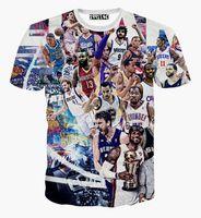 basketball flash game - All Star Game print d t shirt men women summer casual short sleeve tee shirts basketball star Paparazzi t shirt tshirt tops