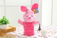 animal jumping games - 25cm Hand Puppet Micky Minnie Winnie The Pooh Jumping Tiger Pink Pig Stuffed Plush Toys Cartoon Animal PP Cotton Doll For Baby
