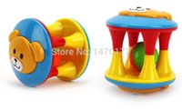 Wholesale 2 Lovely Baby Rattles Plastic Toy Educational Musical Hand Shake Ball Bell Ring Toys year Month High Quality