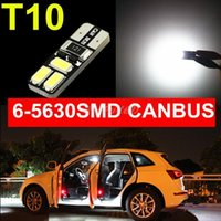 Wholesale 2014 New White CANBUS No error T10 Car LED Light W5W Smd SMD Auto Dome LED License Plate Turn Singal Parking Light