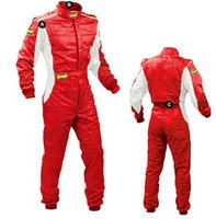 Wholesale OMP car racing suit coverall polyester color size XS XLfit men and women clothing not fire