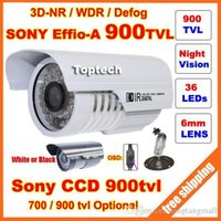 Cheap HD Security Sony Effio-E 700tvl, -A 900tvl CCD 960H OSD menu 36 leds IR 30 meters outdoor surveillance CCTV Camera with bracket A5