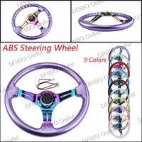 Wholesale Steering Wheel Neo Chrome New mm inch Steering Wheel ABS Steering Wheel no MOMO OMP