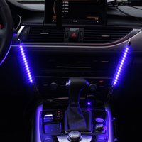 atmosphere music - 2x Car LED Blue Colorful Sound Control Music Light Car Charge Interior Light V Glow Decorative Atmosphere Lamp