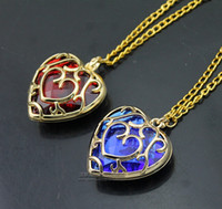 alloy container - Sunhsine The Legend of Zelda blue red Heart Container necklace hollow out cm pendant Necklace lovers