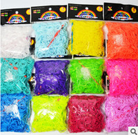 Cheap Hot Glow in the Dark Loom Jelly Bands Rubber Bands Loom Bracelets (600 bands + 24 clips) 7 Colors Fast Delivery by FedEx IP