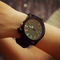 auto display online - Fashion watches colorful display and black rubber student watches online C