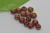 Wholesale x12mm printing wood beads beads DIY beaded jewelry accessories