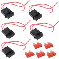 Wholesale 5 Packs A Gauge ATC Fuse Holder In line AWG Wire Copper V Power Blade VE415 W0