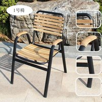 patio furniture - Combination of teak wood tables and chairs outdoor furniture leisure furniture wrought iron balcony patio chairs garden table a