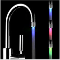 Wholesale 1pc Automatic Colors Changing Glow Shower Stream Tap LED Light Water Faucet order lt no tracking