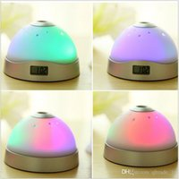 alarm clock promotional - 2015 Starry star projection alarm clocks promotional creative gift LEd Digital Reusable Circular electronic Colorful clocks TOPB3090