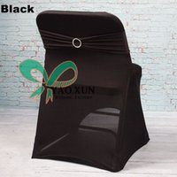 best cover bands - Best Quality Black Color Spandex Chair Cover For Folding Chair And Black Color Chair Band With Buckle