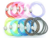 Hot Sale Link Bracelets Filled Crystal Mesh Mode 10 Couleur Multi Strand Infinity Bracelets Magnétiques Bijoux