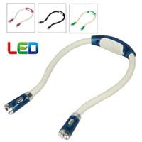 battery reading lamp - 4 LED Light Multi functional Flexible Flashlight Hands free Hug Neck Book Reading Light Lamp EGS_320