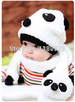 Wholesale 2014 Winter Children s Knitted Hat Cartoon Loverly Spring Panda Beanies Baby Winter Hat Toddler Boys Knitting Cap