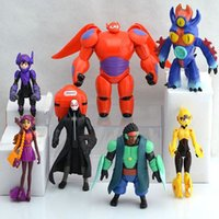 Wholesale 7pcs set cm Big Hero figures Baymax Fred Tomago Honey lemon Wasabi Cartoon Model Action Figure Toys dandys