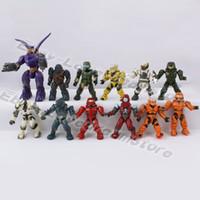action figures animation - Japanese Animation Cartoon Genuine x Halo Super Soldier Spartan cm cm PVC Action Figure Loose Set Random