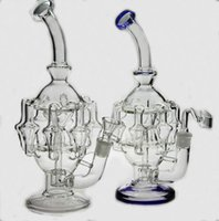 arm high - High quality quot inches glass bubbler water pipe arm perc gear Percolator glass bong oil rig14 mm joint have bowl