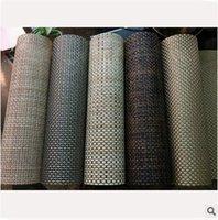 Wholesale 500PCS HHA457 Placemats Table Mat Dining Mat Textilene PVC Insulation Anti Slip Pad Antibacterial Flame Retardant cm Reusable