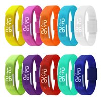 Wholesale New Arrival Fashion Sport LED Watches Candy Color Silicone Rubber Touch Screen Digital Watches Waterproof Bracelet Wristwatch