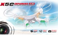 Cheap Wholesale-Big Sale TOP Quality SYMA X5C 100% Original 2.4G 4CH 6Axis Remote Control RC Helicopter Quadcopter Drone Ar.Drone With HD Camera