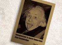 albert paintings - 51X36cm Retro kraft paper poster paintings decorative painting imagination more important than knowledge Albert Einstein Poster