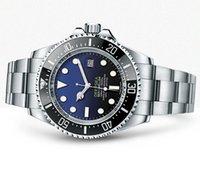 automatic - New Men s Watch Automatic Movement Mechanical SEA DWELLER Ceramic Bezel Sapphire Stainless Steel Men Watches Black Blue Dial Original Clasp