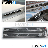 air flow hood - Car Hood Front Side Universal Decoration Car Air Intake Flow Sticker Shark Gills Vent pairs
