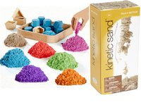 green sand - DHL Kinetic play DIY Sand Magic Sand sand without Mess educational toys Play Sand colors kg bag