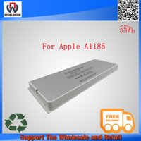 battery macbook white - Hot sales white v wh genuine laptop battery for A1185 A1181 For Apple MacBook notebook battery