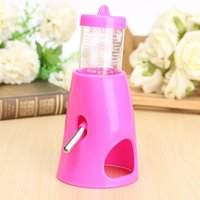 Wholesale Multi Candy Color Small Water Drinking Bottle Animal Hideout Nest Toy Hamster Holder Dispenser With Base Hut in