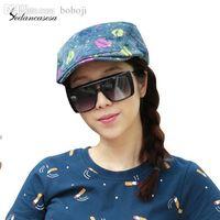 Wholesale Fashion Lips Printing Hat Women Peaked Cap Summer Sun shading Baseball Hat Cowboy Hat WG006214