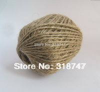 Wholesale 2mm natural color jute cord for gift packing and m roll