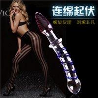 Wholesale Glass Lucid Penis Dildo sex toys Crystal masturbator for woman Female masturbation anal adult sex product