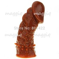 Wholesale Soft Thick Silicone Wolftooth Penis Sleeve Real Feeling Adult Sex Toys For Man Sex products Extend Condoms