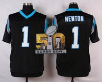 Wholesale Cam Newton Football jerseys With Super Bowl Patch Men Football Jerseys Elite Home Black Color American Football Jerseys for Cheap