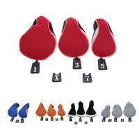 Wholesale Professinal Golf Head Covers Protect Set Set Club Heads Soft Wood Golf Club Driver Headcovers